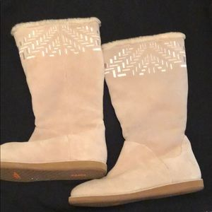 Cole Haan/Nike Air fleece lined suede boots 10